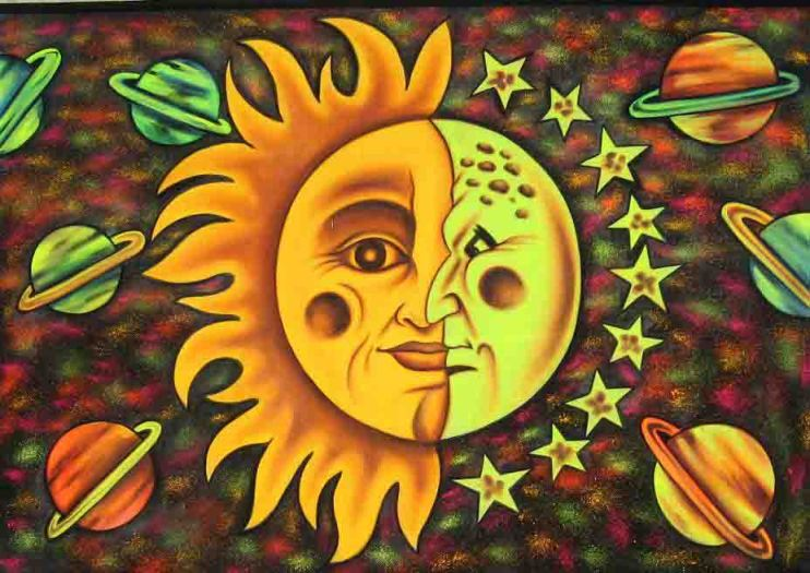 Sunna - goddess of the Sun - is the sister of Mani, god of the Moon.