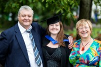 Dad (Keith), me and Mum (Chris) - photo: David Lutwyche